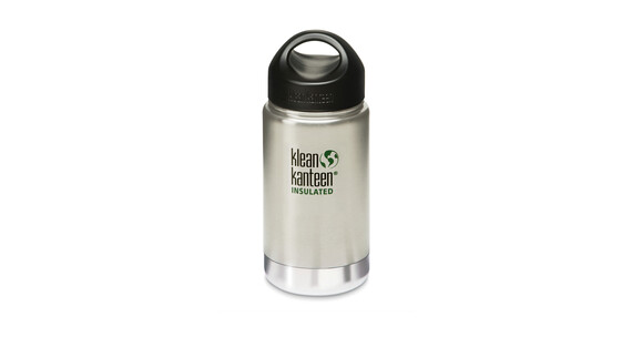 Klean Kanteen Wide Insulated Trinkflasche mit Edelstahl Loop Cap 355ml brushed stainless